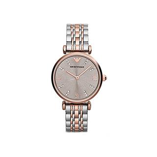 阿玛尼满天星钢带镶钻手表女