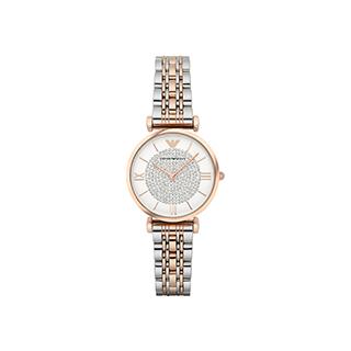 阿玛尼手表满天星玫瑰金表带