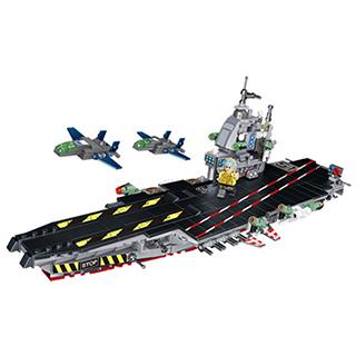 潘洛斯积木拼装玩具核动力航母(8合1)
