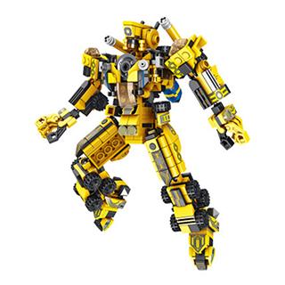 潘洛斯积木拼装玩具城市工程机甲(12IN1)