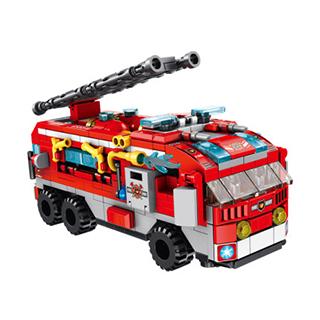 潘洛斯积木拼装玩具城市消防队伍(12IN1)