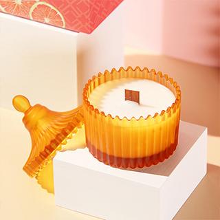 节气盒子 粉柚红茶茶烛