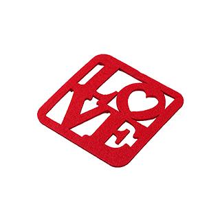 Love爱语高级无纺布环保杯垫(6片装)