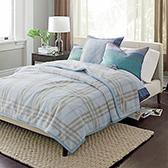 Saul索尔经典格纹柔暖双层家居毯