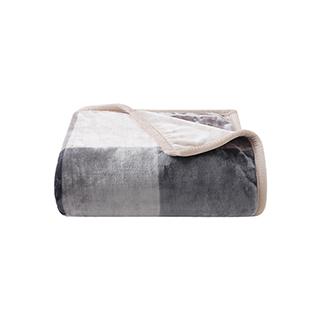 Kaley暖绒加厚双层毯-布拉格
