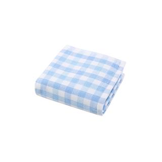 ABS单面纱布全棉方格毛巾