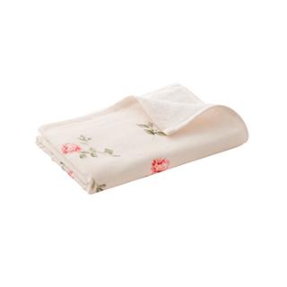 Rena玫瑰花园系列全棉柔软纱布方巾