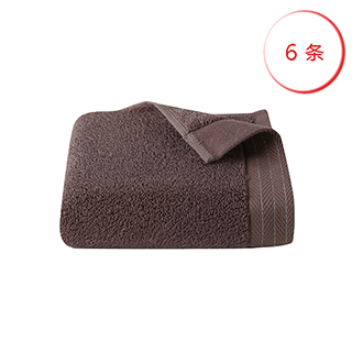 Avati新疆阿瓦提长绒棉面巾六条装-花边款