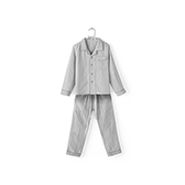 Jodie全棉三层纱系列男童家居服套装(方领)
