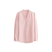 Farris亚麻系列女士长袖衬衫(立领)