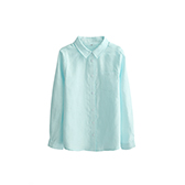 Farris亚麻系列儿童长袖衬衫(方领)