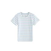 Pima皮马棉儿童粗条纹休闲T恤(圆领)