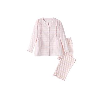 Alisa全棉双层纱儿童家居服套装(条纹款)