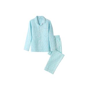 Alisa全棉双层纱儿童家居服套装(卡通款)
