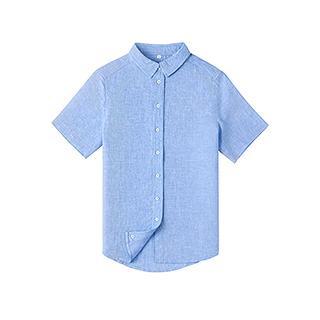 Farris亚麻系列短袖衬衫-女士方领
