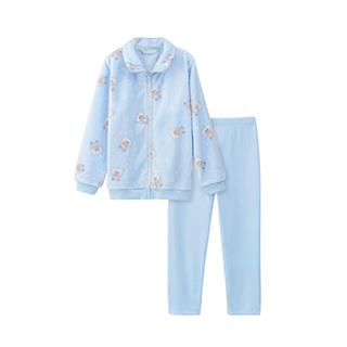 Polarland极地系列法兰绒家居套装-儿童拉链