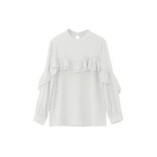 Lotus灵动荷叶边淑女衬衫-长袖