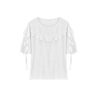 Lotus灵动荷叶边淑女衬衫-短袖