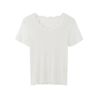 Sofina唯美蕾丝系列真丝棉打底衫-短袖