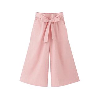 Carry水洗棉系列气质高腰阔腿裤-女士