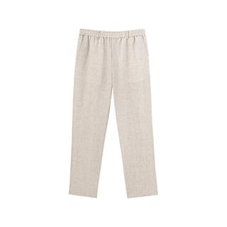 Poole亚麻系列休闲直筒裤-男士