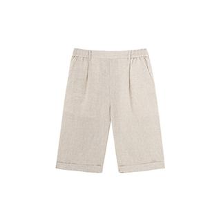 Poole亚麻系列休闲中裤-男士