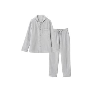 Softer双层纱长袖家居套装-男士翻领