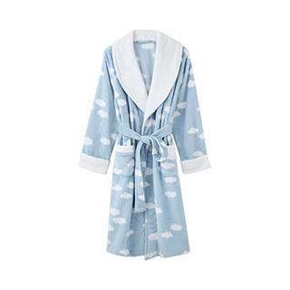 Cloudy云朵法兰绒长款浴袍-男士系带