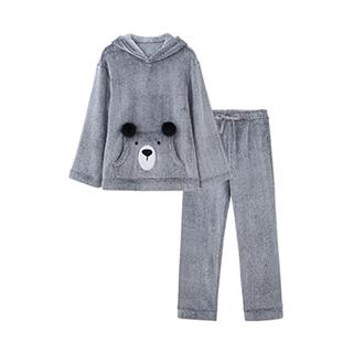 Arctic北极绒连帽家居套装-熊宝
