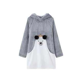 Arctic北极绒连帽家居服-熊宝