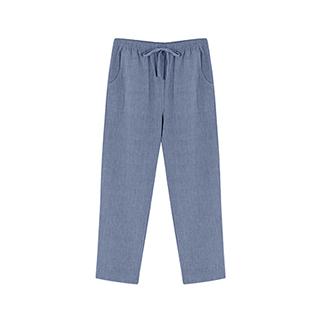 Ivey水洗棉简约直筒裤-男士