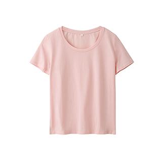 Ennis丝光棉简约短袖T恤-女士圆领