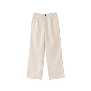 Poole亚麻系列简约直筒裤-女士