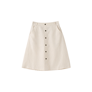 Poole亚麻系列简约半身裙