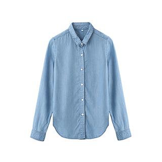 Jeana天丝牛仔长袖衬衫-女士纽扣