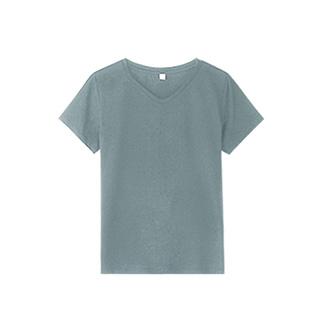 [nns]丝光棉基本款v领T恤 女款