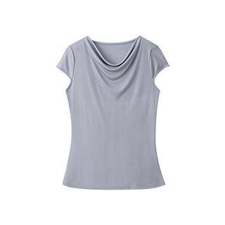 Marilyn梦露系列真丝短袖T恤-荡领