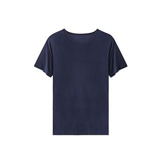 Arthur亚瑟系列真丝短袖T恤-圆领