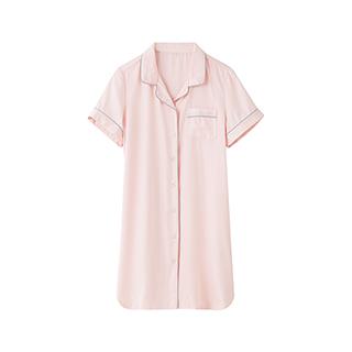 Lillian质感天丝短袖衬衫裙