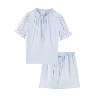 AiryTech空气感法式透气纱短袖家居服-女士