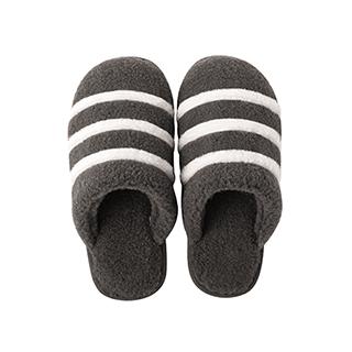 Sera仿羊绒系列条纹家居拖鞋-柔暖款