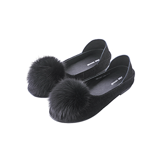 Frigga俏皮狐狸毛球平底鞋