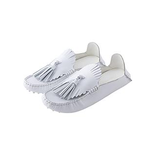 Louis雅痞风牛皮豆豆鞋-流苏款