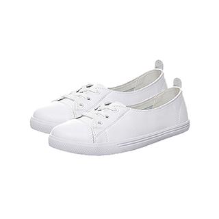 韩版牛皮百搭平底小白鞋
