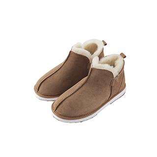 Babur羊皮毛一体短筒暖靴-男士