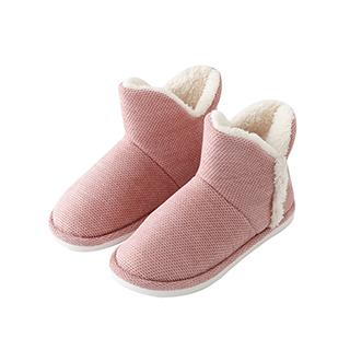 Q-Tech弹芯科技毛绒家居暖靴