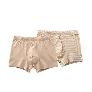 Nature中国彩棉男士中腰内裤两件组