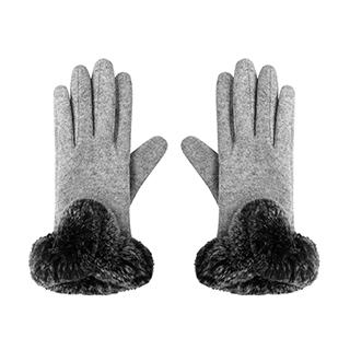 Grace羊毛系列可触屏保暖手套-兔毛款