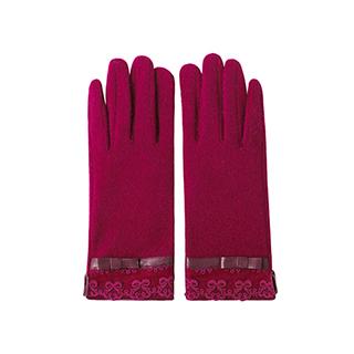 Grace羊毛系列可触屏保暖手套-蕾丝款