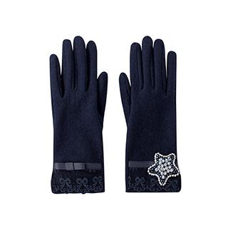 Grace羊毛系列可触屏保暖手套-星星款